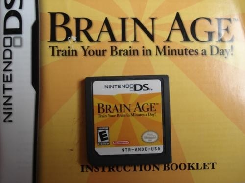 Game Para Nintendo Ds Brain Age Original Novo