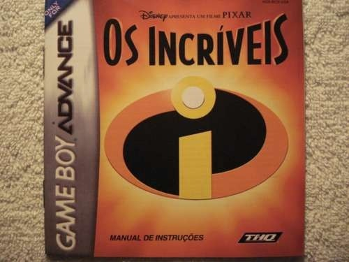 Game Para Game Boy Advance The Incridibles Novo