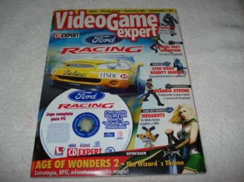Revista Cd Expert Game Ford Racing Completo