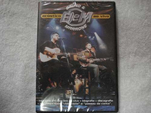 Dvd Bruno E Marrone Acústico Ao Vivo