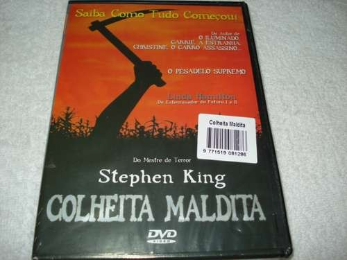Dvd Colheita Maldita De Stephen King Original