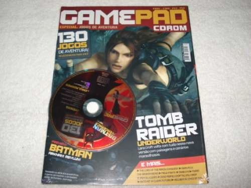 Game Pc Revista Gamepad Pc Cd 130 Jogos De Aventura Lacrado