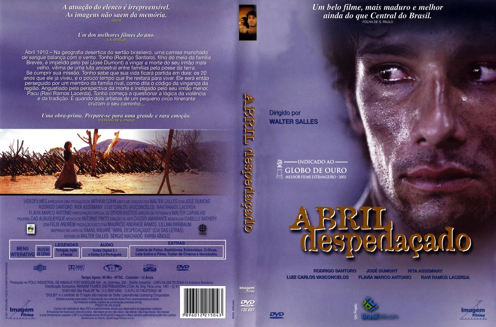 DVD LACRADO ABRIL DESPEDACADO RODRIGO SANTORO - AUDIO EM PORTUGUES