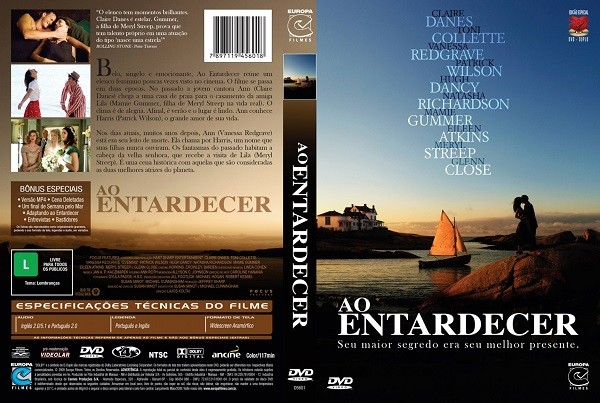 DVD AO ENTARDECER COM MERYL STREEP E GLENN CLOSE + AUDIO EM PORTUGUES