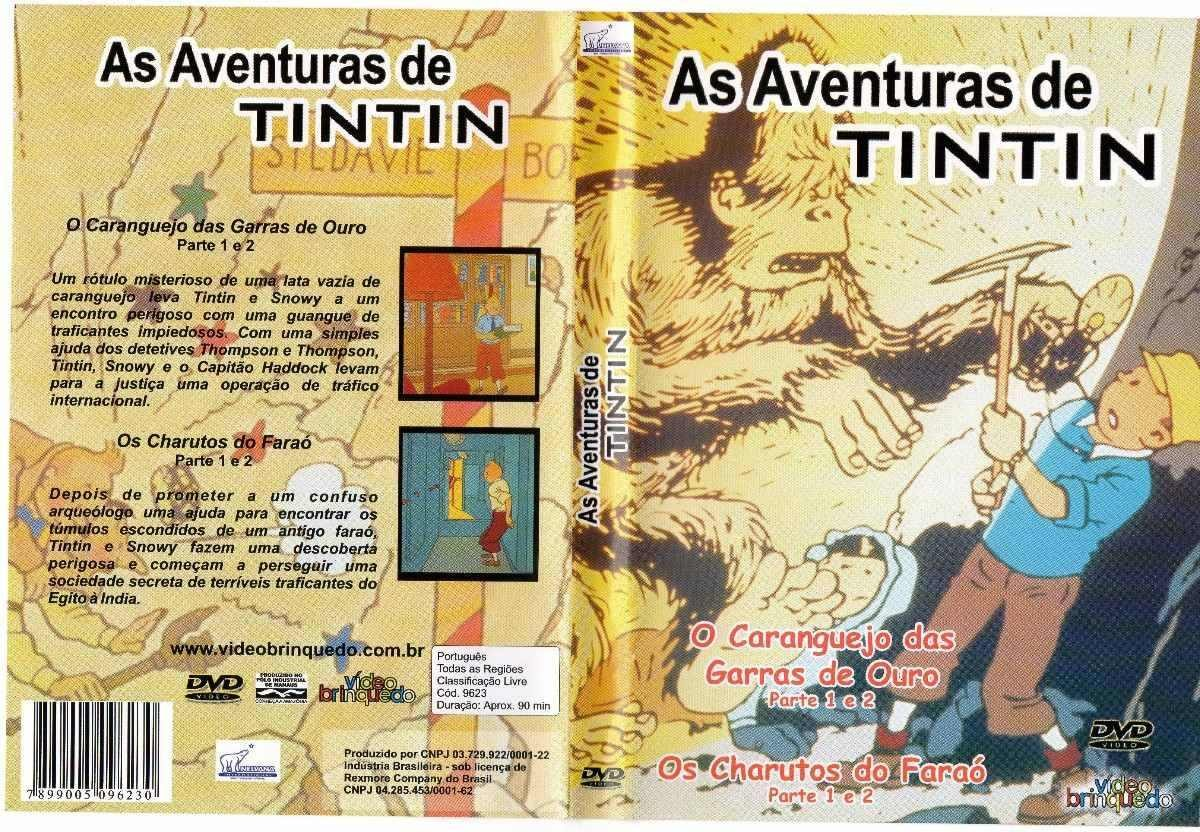 DVD AS AVENTURAS DE TINTIN O CARANGUEJO E OS CHARUTOS - AUDIO EM PORTUGUES