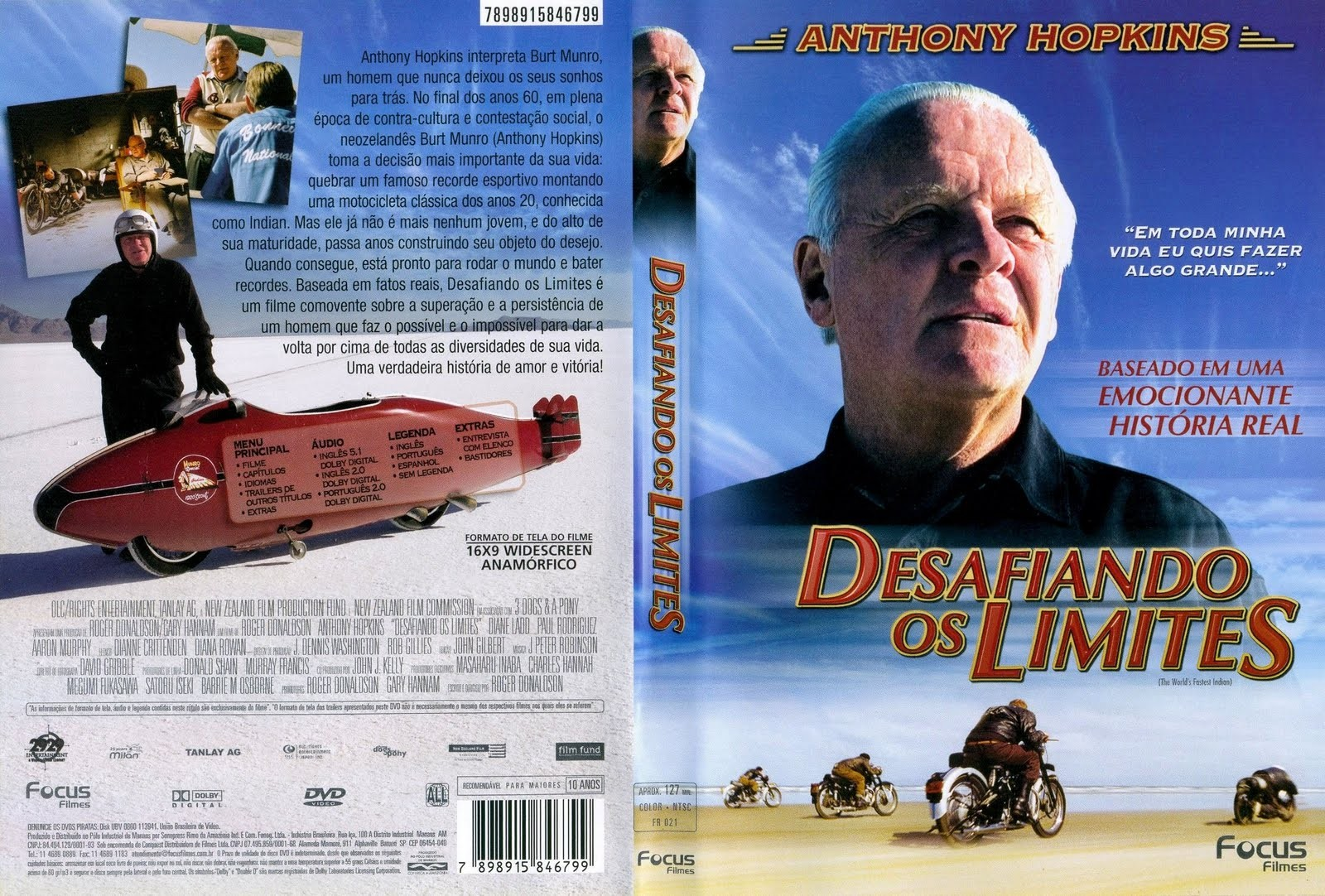 DVD LACRADO DESAFIANDO OS LIMITES ANTHONY HOPKINS - AUDIO EM PORTUGUES