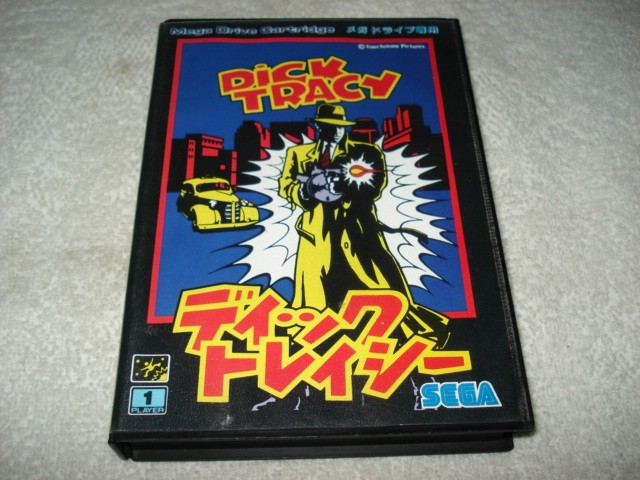 Cartucho Dick Tracy Mega Drive Japones com Caixa e Manual Original