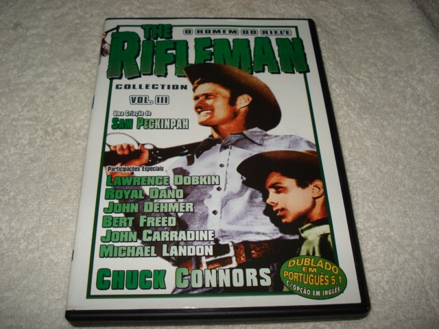 Dvd The Rifleman Collection com Chuck Connors Volume 3