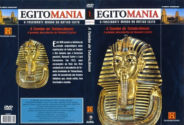 DVD EGITOMANIA THE HISTORY CHANNEL - LEGENDAS EM PORTUGUES