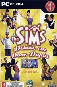 Game Pc The Sims Deluxe Em Dose Dupla - Cd-rom Lacrado