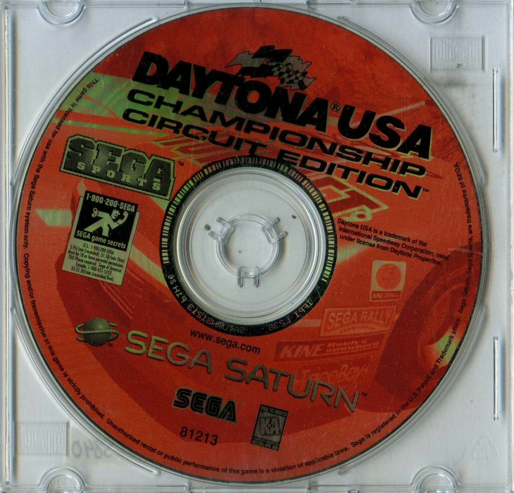 GAME SEGA SATURN DAYTONA USA CHAMPIONSHIP CIRCUIT EDITION SOMENTE O CD