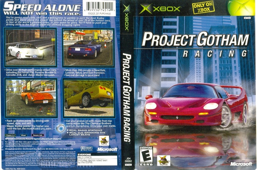 GAME XBOX PROJECT GOTHAN RACING