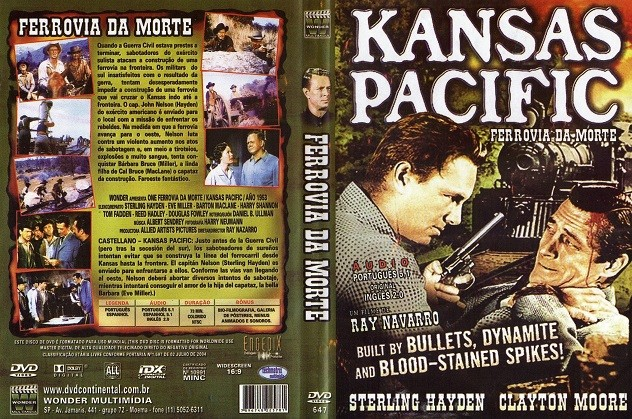 DVD KANSAS PACIFIC FERROVIA DA MORTE FILME DE RAY NAVARRO - AUDIO EM PORTUGUES