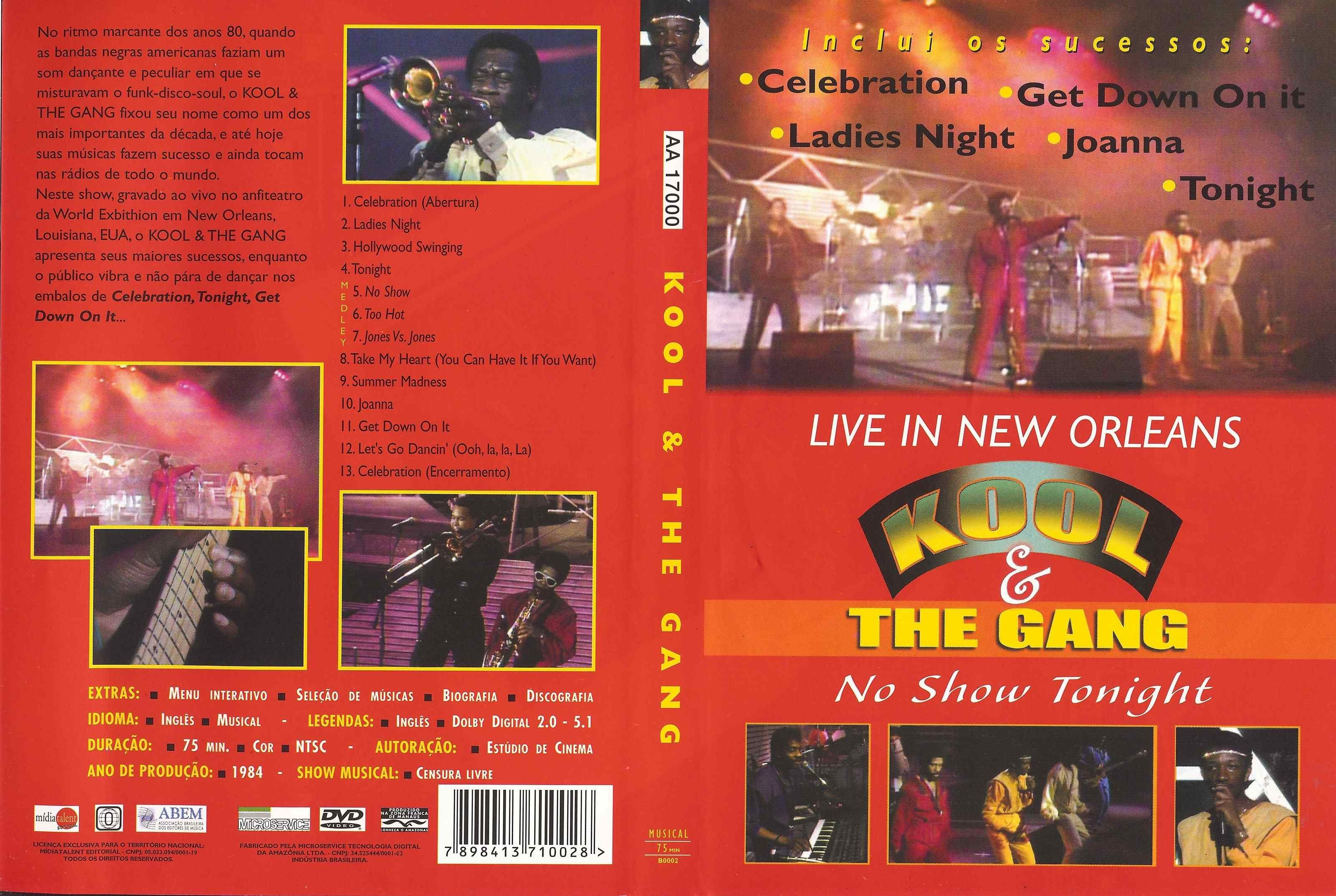 DVD LACRADO KOOL & THE GANG SHOW TONIGHT LIVE IN NEW ORLEANS