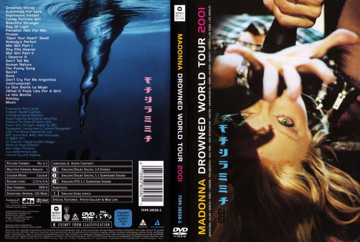 DVD LACRADO MADONNA DROWNED WORLD TOUR 2001