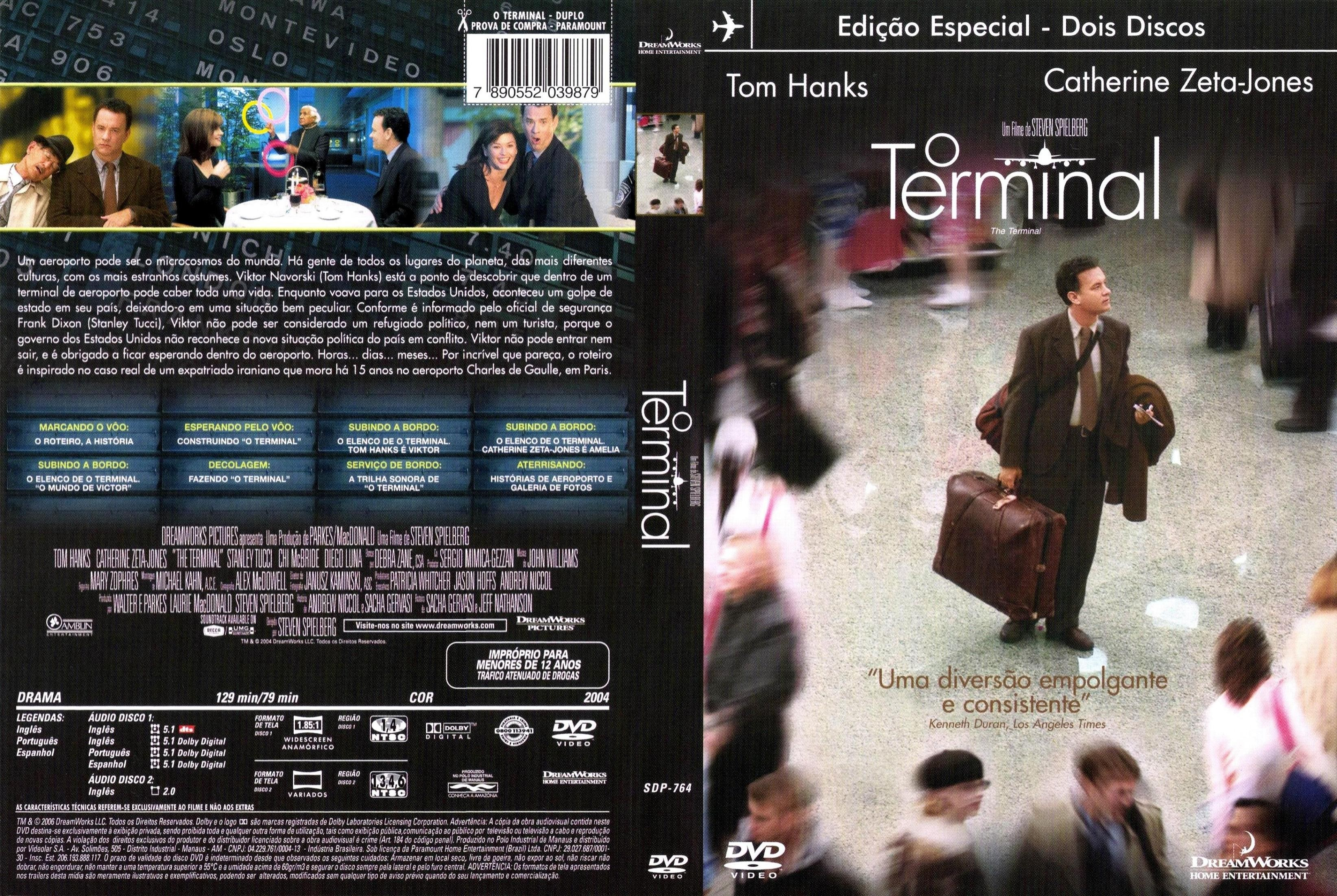 DVD LACRADO DUPLO O TERMINAL TOM HANKS - AUDIO EM PORTUGUES