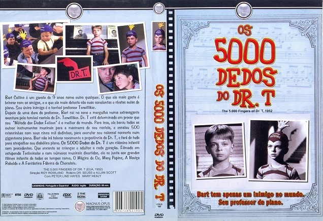 DVD OS 5000 DEDOS DO DR. T FILME DE ROY ROWLAND - LEGENDAS EM PORTUGUES