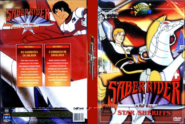 DVD LACRADO SABER RIDER AND THE STAR SHERIFFS - AUDIO EM PORTUGUES