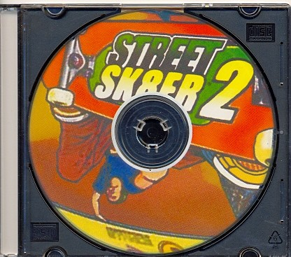 GAME PS1 PLAYSTATION 1 STREET SK8ER 2 SEM MANUAL CD PRATA