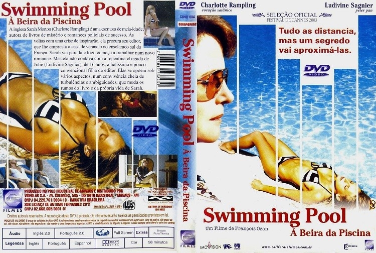 DVD SWIMMING POOL A BEIRA DA PISCINA COM CHARLOTTE RAMPLING - AUDIO EM PORTUGUES