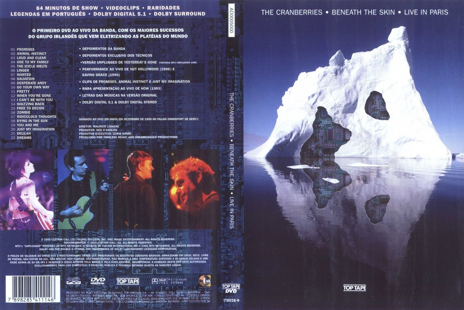DVD LACRADO THE CRANBERRIES BENEATH THE SKIN LIVE IN PARIS