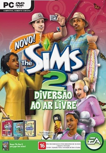 GAME PC THE SIMS 2 DIVERSÃO AO AR LIVRE ORIGINAL E LACRADO