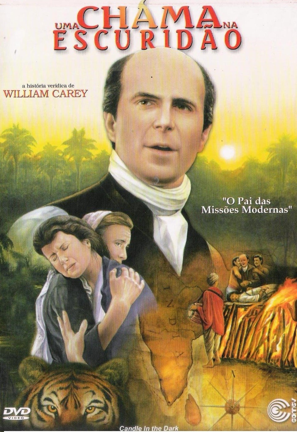 DVD UMA CHAMA NA ESCURIDAO A HISTORIA VERIDICA DE WILLIAM CAREY - AUDIO EM PORTUGUES