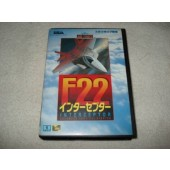 Cartucho F22 Interceptor Mega Drive Japones com Caixa e Manual Original