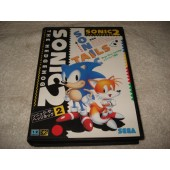 Cartucho Sonic 2 The Hedgehog Mega Drive Japones com Caixa e Manual Original