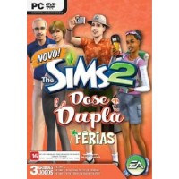 GAME PC THE SIMS 2 DOSE DUPLA FÉRIAS + BOM VOYAGE + ESTILO TEEN