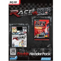 GAME PC DOUBLE HEADER PACK RACE VS. GTR + RACE THE WTCC GAME + GTR FIA GT RACING GAME