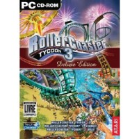 GAME PC ROLLER COASTER TYCOON 3 DELUXE EDITION + EXPANSÕES SOAKED + WILD